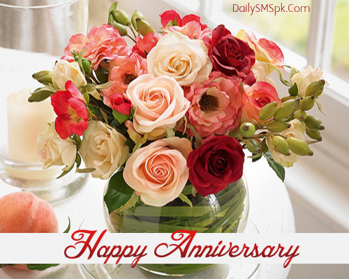 Anniversary Wishes Flower Card