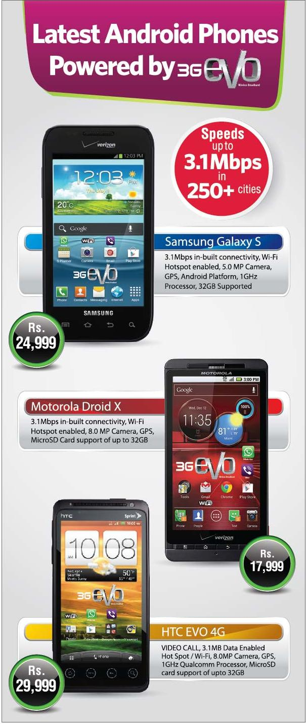 ptcl launched evovfone cdma mobile handsets PTCL Launched EVO+Vfone Enabled CDMA Mobile Handsets