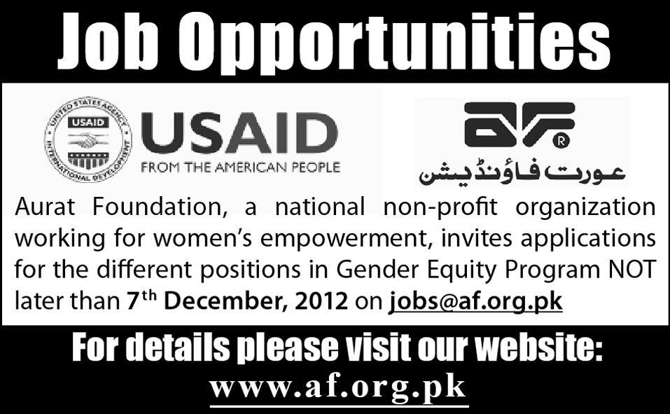 jobs in usaid Jobs Opportunities in USAID