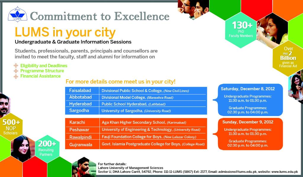 lums in your city LUMS in Your City: Commitment to Excellence