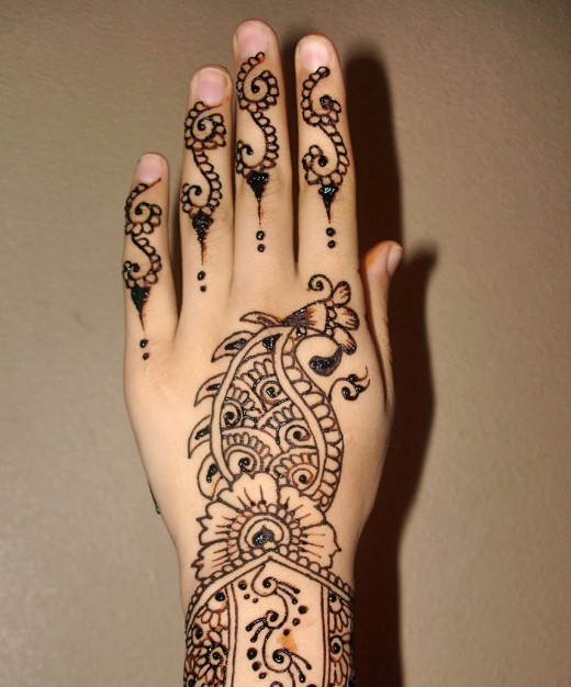 Simple Mehndi Designs For Back Hands 2013 Wallpapers Pictures