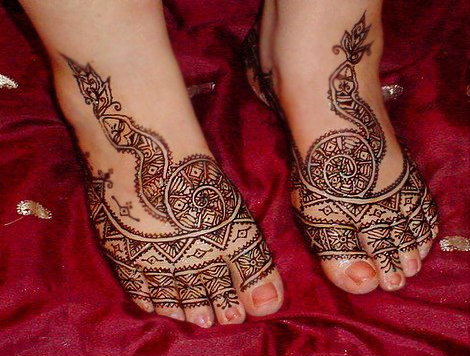 bridal Mehndi Designs For Feet Photos 2013