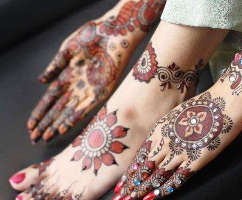 Bridal Mehndi On Foot : Bridal mehndi designs peacock hands and feet for full
