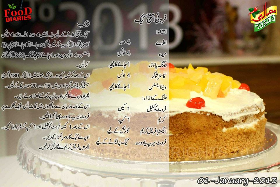 Fluffy Sponge Cake Recipe In Urdu