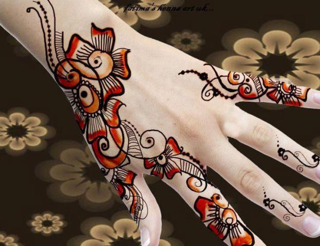 latest fancy hand mehndi designs 2013 for women girls 002 Fancy Hand Mehndi Designs For Women