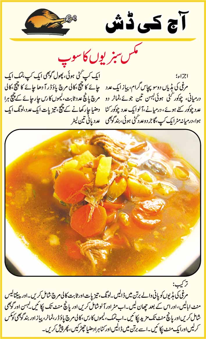 Mix Vegetable Soup Recipe Urdu