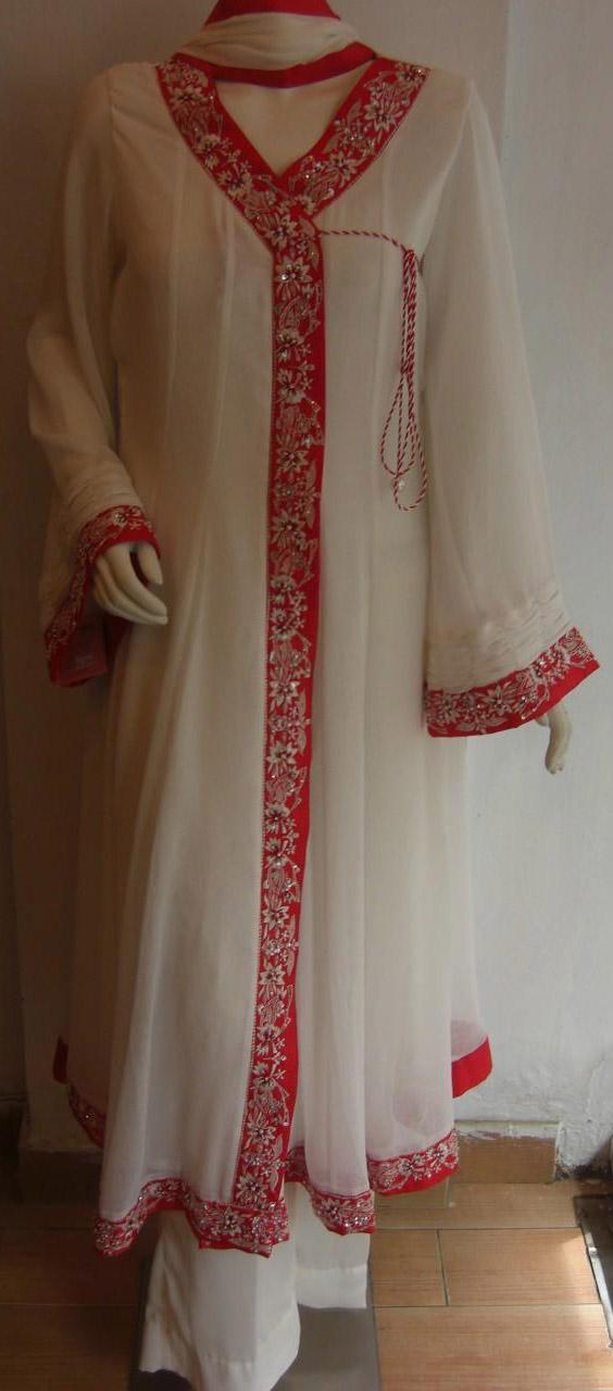 angrakha frock 2013 Angrakha Style Frock 2013, Angrakha Dress Designs