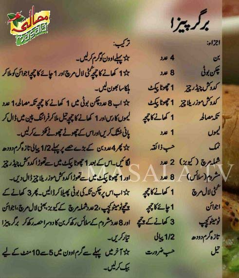 burger pizza recipe Cheese Burger Pizza Recipe in Urdu and English