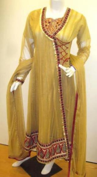 designs of angrakha style ladies suits 2013