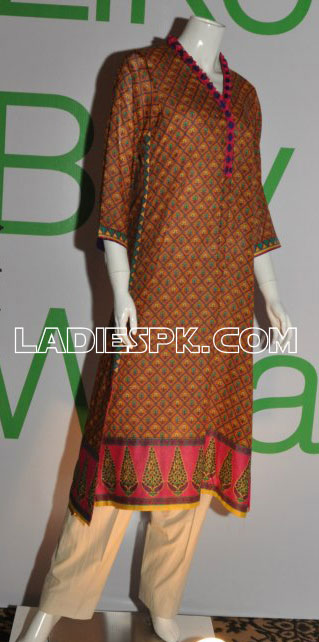 girls women kurta 2013 New Lawn Kurta Design For Women & Girls 2013