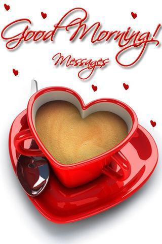 Good_Morning Tea Mug Cup Heart -Wallpaper