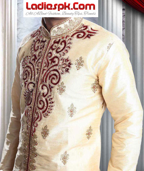 Latest Pakistani Sherwani Designs for Men 2013