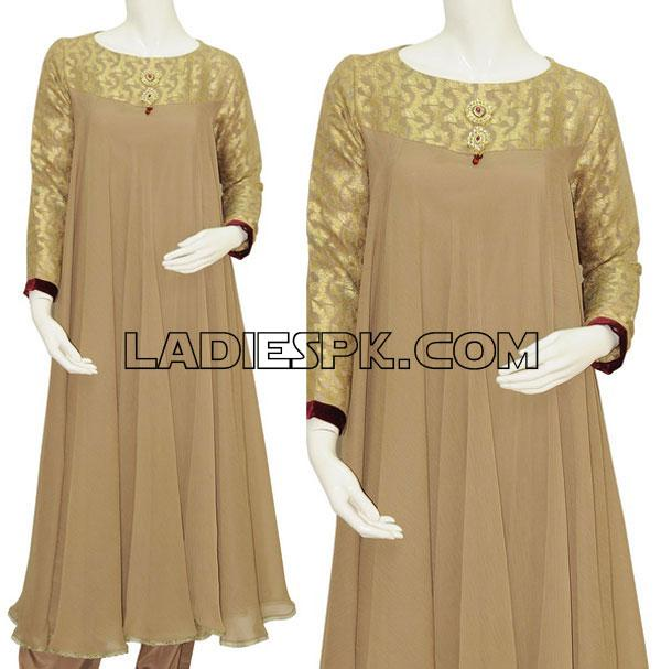 long frock style for girls 2013 Long Umbrella Frock Style for Girls 2013   Junaid Jamshed