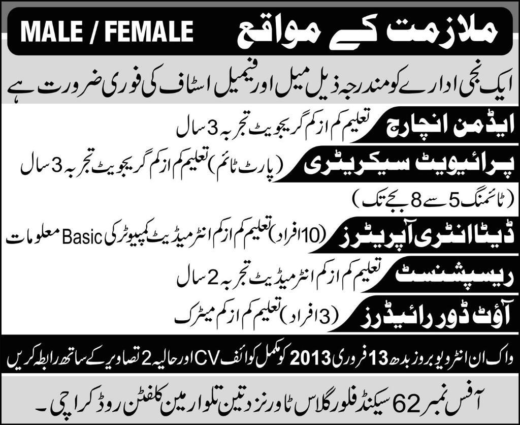 Male Female Jobs