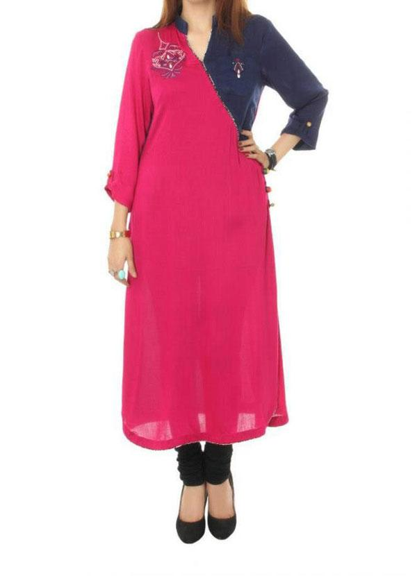 new girls kurta designs 2013 style for women New Kurta Churidar Designs For Women & Girls