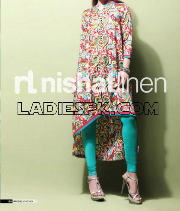Nishat-Linen-2013-Gown Tights Pajama.