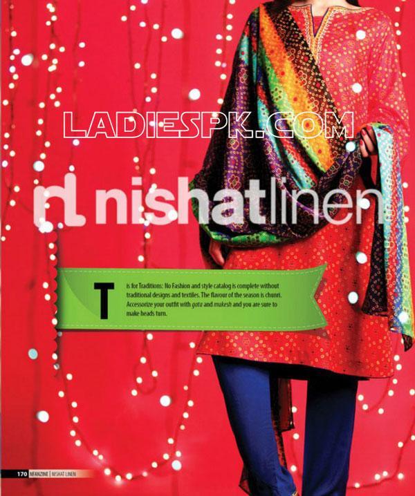 Nishat Linen -Lawn-Prints-2013