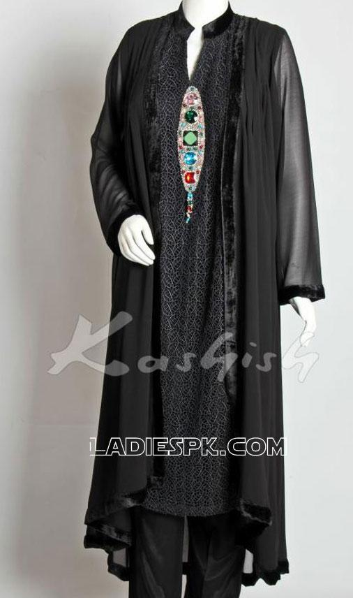 pakistani new black spring dresses 2013 frock Spring Dresses For Girls