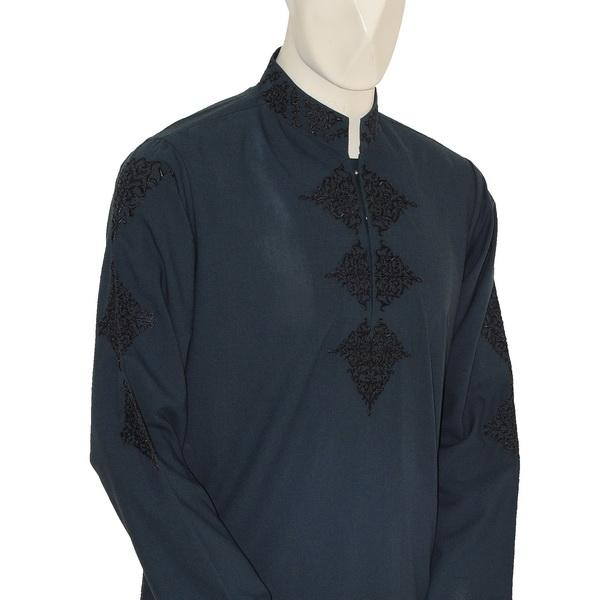 Junaid Jamshed Party wear Kameez Shalwar in Mid Night Blue