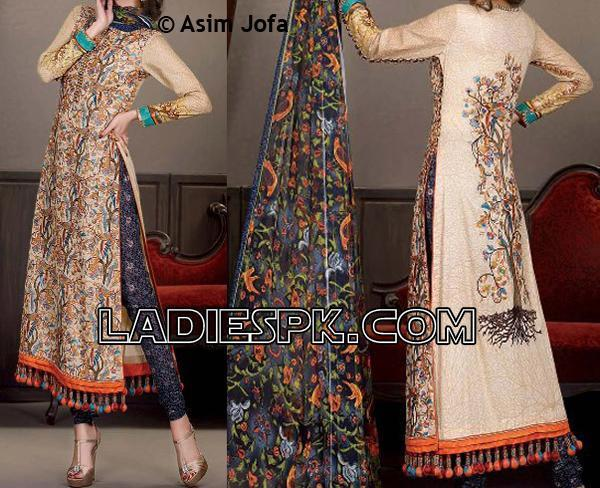 asim jofa lawn collection 2013 shalwar kameez women Asim Jofa Lawn 2013 Long Pajama Kameez for Women Girls