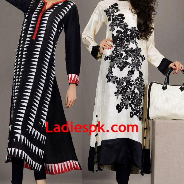 Blak-and-White-Silk-by-Fawad-Khan-winter-price