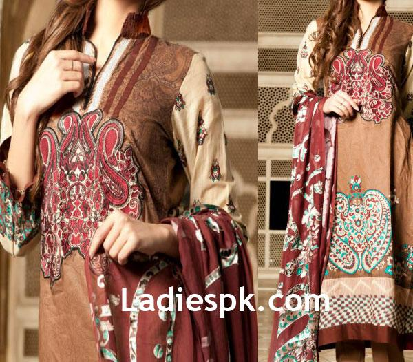 firdous lawn fashion cloth mills 2013 prints Firdous Lawn 2013 Kurta for Women
