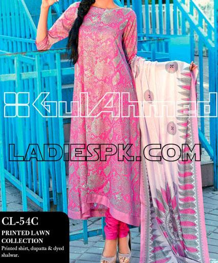 gul ahmed lawn print summer collection 2013 A Line Gul Ahmed Lawn Kameez Pajama Design Girls 2013