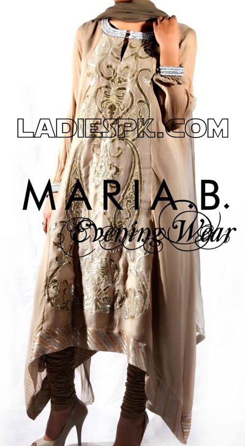 maria b evening dresses Latest Spring Evening Wear Dresses 2013 for Women