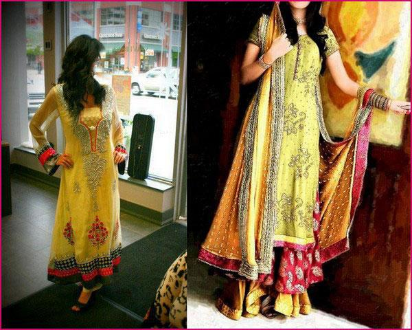 mehndi dresses for girls 2012 c Fancy Wadding Mehndi Dresses for Girls 2013