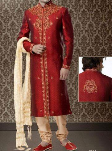 Red Groom-Sherwani-Designs-Collection-For-Wedding 2013-6
