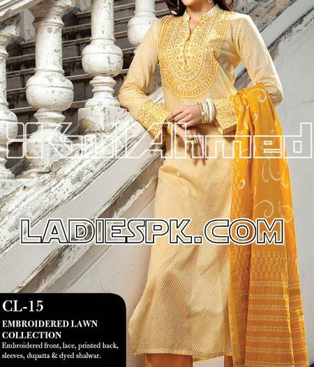 salwar kameez gul ahmed lawn summer collection 2013 Pakistani Shalwar Kameez Design for Women by Gul Ahmed