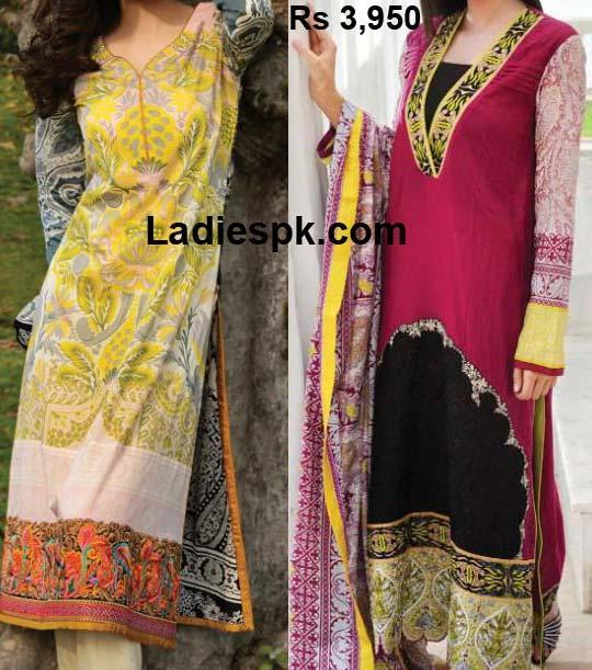 Bonanza Garments Lawn 2013 Long shirts Price Girls Women