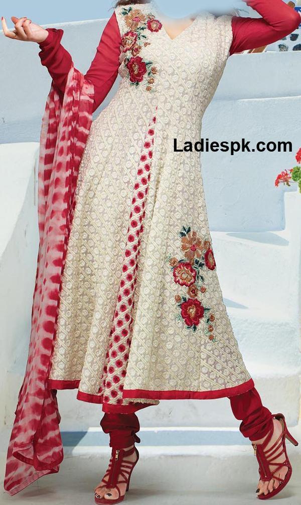 Double-Shirt-Frock-Dresses-2013--Anarkali-Style-Designs-2013-Churidar-Choori-Pajama