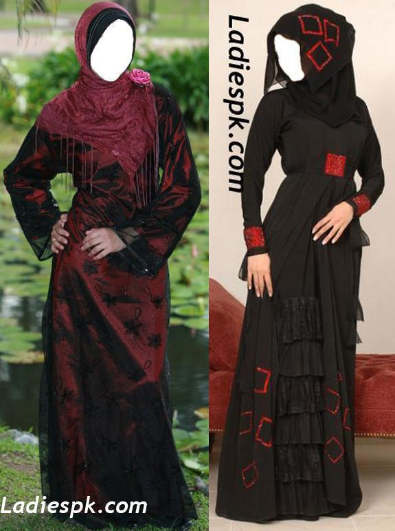 Dubai Latest-Abaya-Designs-2013 Graceful-Modern-Style-emoo Burka