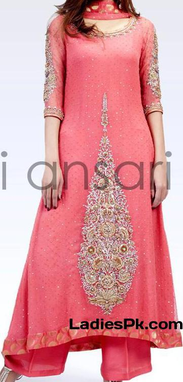 fancy boutique style dress for party wedding 2013 pink a line kameez Fancy Boutique Style Dress For Party & Wedding