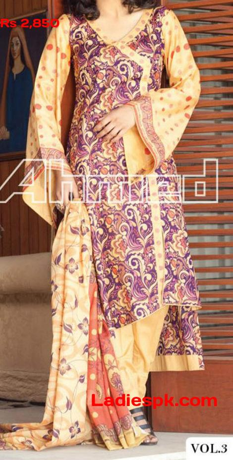 gul ahmed lawn 2013 volume 3 magazine summer Angrakha Style Shirts Gul Ahmed Lawn Magazine Volume 3 2013