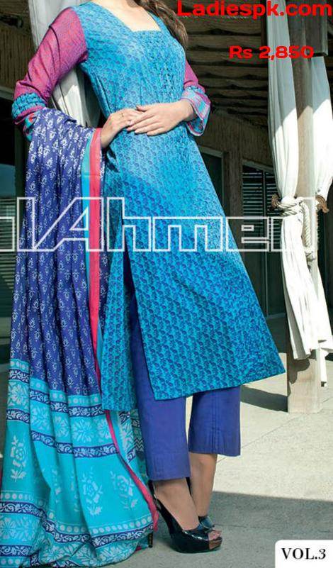 gul ahmed shirts lawn 2013 volume 3 magazine girls Long Shirts for Girls 2013 Gul Ahmed Summer Lawn Vol 3