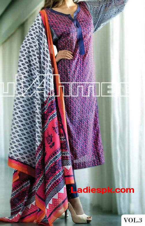 gul ahmed summer lawn 2013 volume magazine long shirts Long Shirts for Girls 2013 Gul Ahmed Summer Lawn Vol 3
