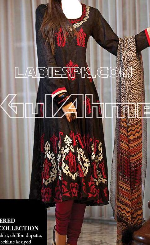 GulAhmed- chiffon dresses for girls 2013 C13--Rs.7200