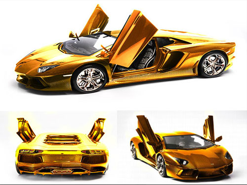 Lamborghini-Aventador-gold-version