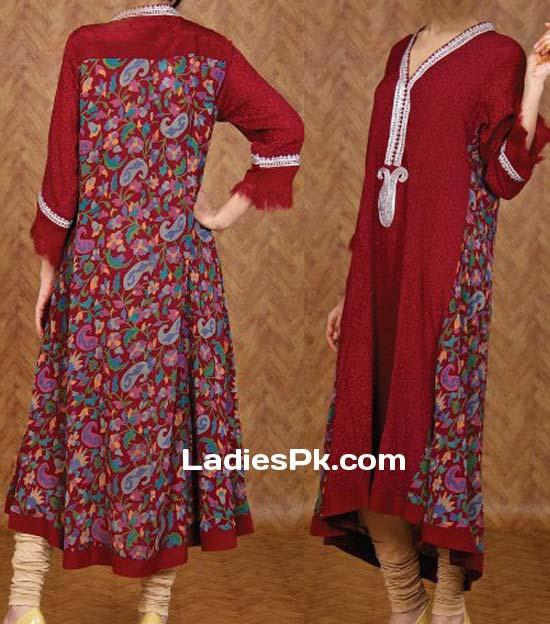 ONE-Long-Tail-Gown-Shirts-Fashion-in-Pakistan-for-Women-Girls-2013