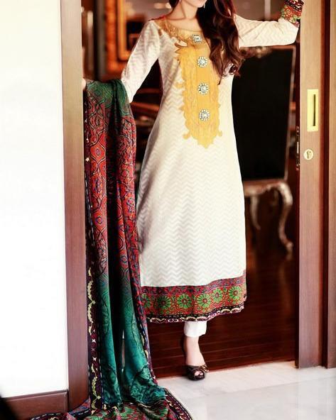 Sana Salman (Riffat & Sana) cotton-net Swiss-voile