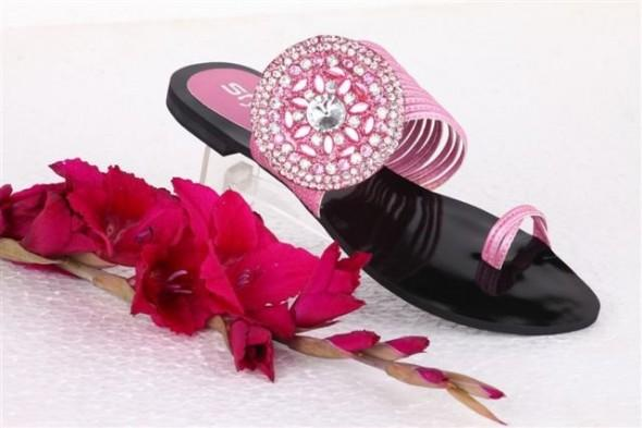 Stylo-shoes-designs-collection-2013 Pink Flats Slippers