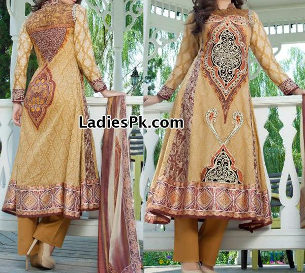 Summer-Al-Zohaib-Textile-lawn-2013-Frocks-Design Price Rs. 4,490 Mahiymaan