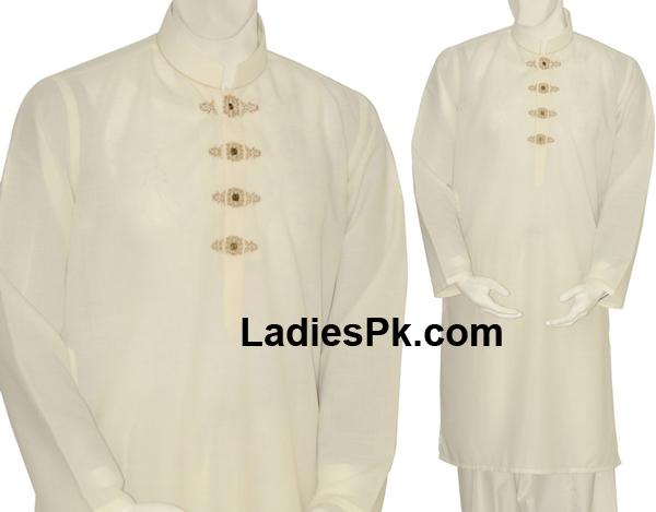 summer kurta men shalwar kameez 2013 boys off white Casual Summer Kurta Shalwar Kameez for Boys & Men 2013