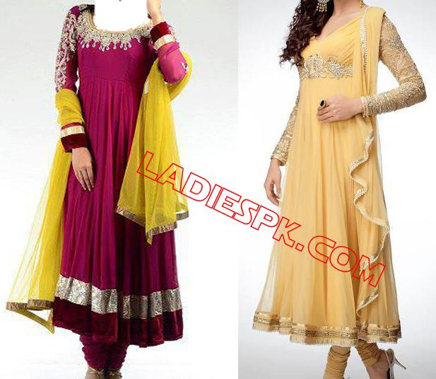 Wedding Party Frock Mehndi-Outfits-Collection-2013