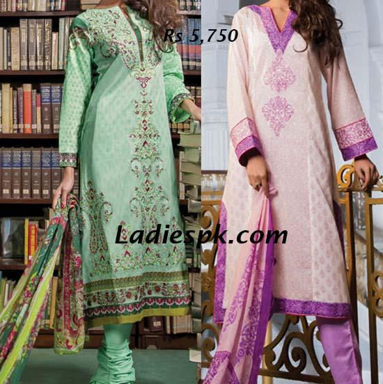 Allure by al karam Lawn Collection - 2013 Summer Kameez Choori Pajama Prices Shalwar