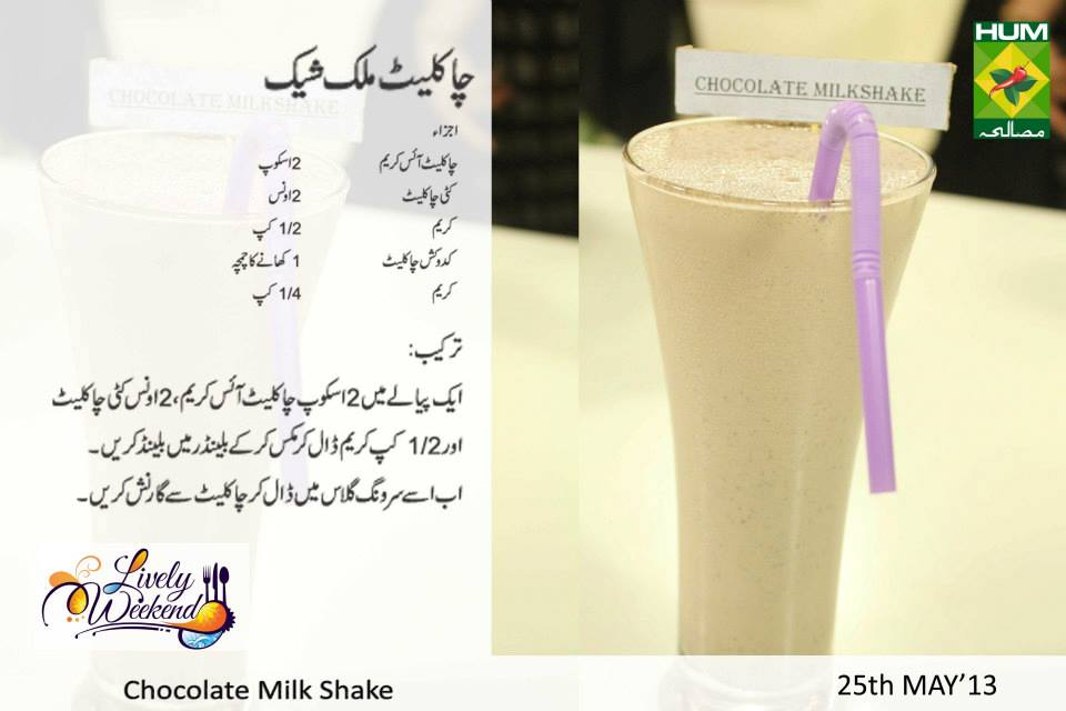 Chocolate Milk Shake Recipe
