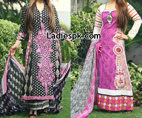 Deeba-Premium-Lawn-Collection-2013 by Shariq-Textiles Long Kameez for Women