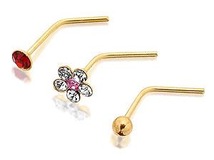 Gold-crystal-three-nose-stud-set